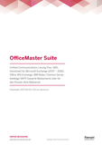 Datenblatt: OfficeMaster Suite