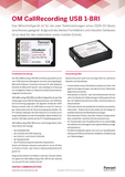 Datenblatt: OfficeMaster CallRecording USB 1 BRI