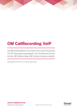 Datenblatt: OfficeMaster CallRecording VoIP