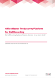 OfficeMaster ProductivityPlatform for CallRecording